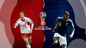 World Cup - Denmark V France